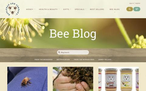 Screenshot of Blog savannahbee.com - Savannah Bee Company - captured Jan. 17, 2016