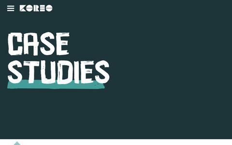 Screenshot of Case Studies Page koreo.co - Case Studies - Koreo - captured Nov. 6, 2017