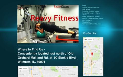 Screenshot of Maps & Directions Page reavyfitness.com - Reavy Fitness - Personal Training, Athletic Performance and PreHab in Wilmette, Skokie and Evanston area - Directions - captured Nov. 25, 2016