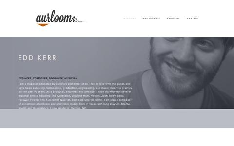 Screenshot of About Page aurloom.com - Edd Kerr — Aurloom - captured Oct. 5, 2014