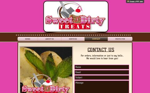 Screenshot of Contact Page sweetndirtytreats.com - sndthtml | CONTACT - captured Dec. 6, 2016