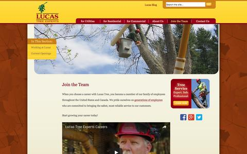 Screenshot of Signup Page lucastree.com - Grow Your Career at Lucas Tree | Lucas Tree Experts - captured Nov. 13, 2016
