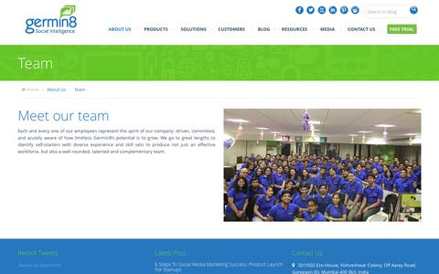 Screenshot of Team Page germin8.com - Germin8 - Meet our Team - captured Dec. 3, 2015