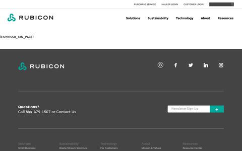 Rubicon Global - Commercial Garbage & Waste Management Company   Rubicon Global