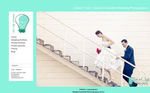 Screenshot of Login Page loveandlightphotography.net.au - Login   Love and Light Photography - captured Sept. 30, 2014