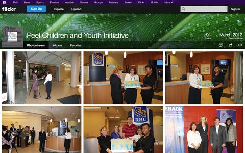 Screenshot of Flickr Page flickr.com - Flickr: Peel Children and Youth Initiative's Photostream - captured Oct. 22, 2014