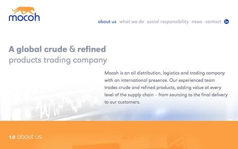Screenshot of About Page mocoh.com - Mocoh - Home - captured Oct. 26, 2014