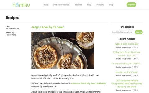 Screenshot of Blog nomiku.com - Recipes | Nomiku - captured Nov. 25, 2016