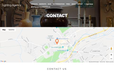 Screenshot of Contact Page lightingagency.co.uk - Lighting Agency | Contact - captured Dec. 8, 2018