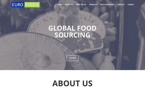 Screenshot of Home Page euro-foods.de - EUROFOODS   Global Food Sourcing - captured Jan. 24, 2016