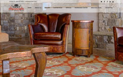 Screenshot of Home Page alyshaan.com - Alyshaan Fine Rugs | Area Rugs In Scottsdale Arizona - captured Feb. 5, 2016