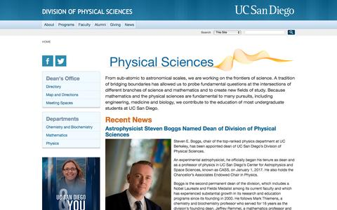 Division of Physical Sciences, UC San Diego