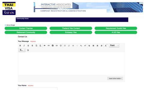 Screenshot of Contact Page thaivisa.com - Contact Us - Thailand Visa Forum by Thai Visa   The Nation - captured April 26, 2018