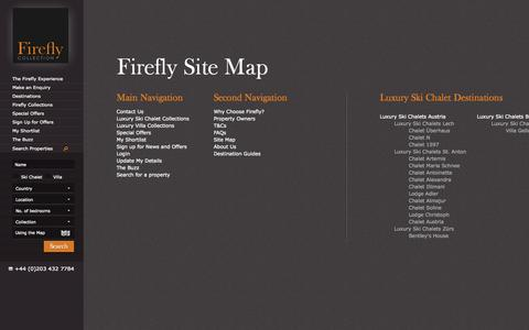Screenshot of Site Map Page firefly-collection.com - Firefly Site Map - Firefly Collection - captured Sept. 22, 2014
