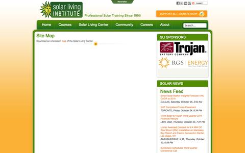 Screenshot of Site Map Page solarliving.org - Solar Living Institute -  Site Map - captured Oct. 26, 2014