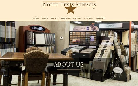 Screenshot of About Page northtexassurfaces.com - About - North Texas Surfaces Inc. - captured Oct. 19, 2018
