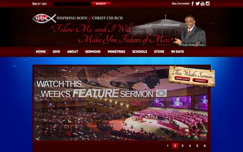 Screenshot of About Page Privacy Page Signup Page FAQ Page Login Page Terms Page Team Page ibocchurch.org - Non-Denominational Christ-Centered Church ministered by Pastor Rickie G.Rush - captured Oct. 23, 2014