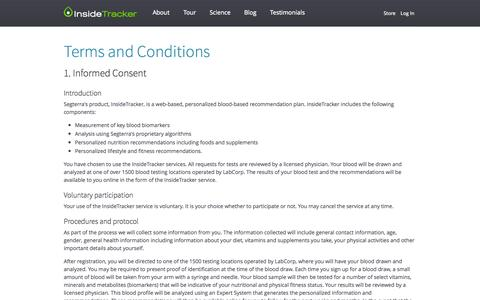Terms and Conditions - InsideTracker