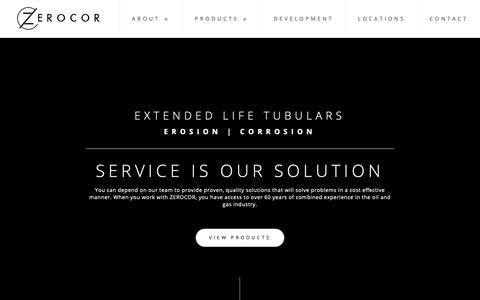 Screenshot of Home Page zerocor.com - Home - Zerocor Technologies Ltd. - captured Oct. 18, 2018
