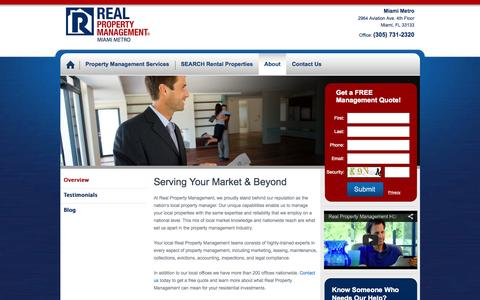 Screenshot of About Page realpropertymgt.com - About Us | Property Management Company | Real Property Management - captured Oct. 26, 2014