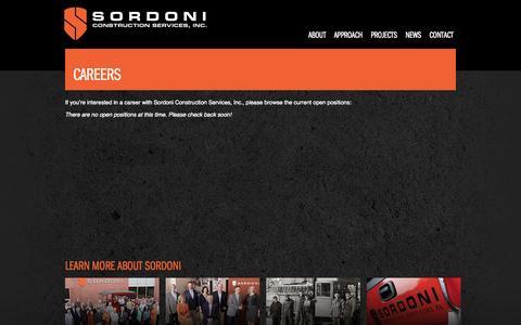 Screenshot of Jobs Page sordoni.com - Careers   Sordoni Construction - captured Oct. 6, 2014