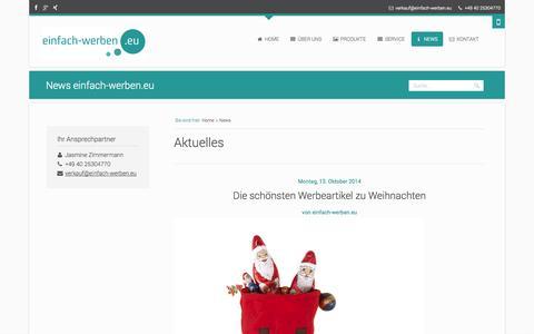 Screenshot of Press Page einfach-werben.eu - News einfach-werben.eu - einfach-werben.eu - captured Nov. 4, 2014
