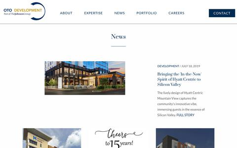 Screenshot of Press Page otodevelopment.com - The latest news from OTO Development, a fast-growing hotel developer and hospitality management company. - captured Aug. 1, 2019