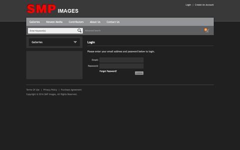 Screenshot of Login Page smpimages.com - Login – SMP Images - captured April 30, 2016