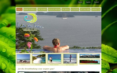 Screenshot of Home Page vistalasislas.com - Home ‹ Vista Las Islas Hotel & Spa Eco Reserva, Paquera Costa RicaVista Las Islas Hotel & Spa Eco Reserva, Paquera Costa Rica - captured Oct. 6, 2014