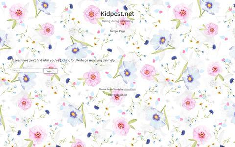 Screenshot of Home Page kidpost.net - Kidpost.net – Dating, dating and dating - captured June 22, 2019