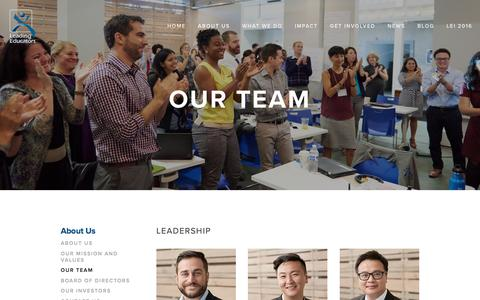 Screenshot of Team Page leadingeducators.org - Our Team — Leading Educators - captured July 12, 2016