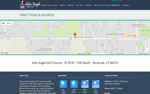 Screenshot of Maps & Directions Page golfgleneagle.com - Directions to Glen Eagle Golf Club - 801 773 4653 - captured Aug. 6, 2017