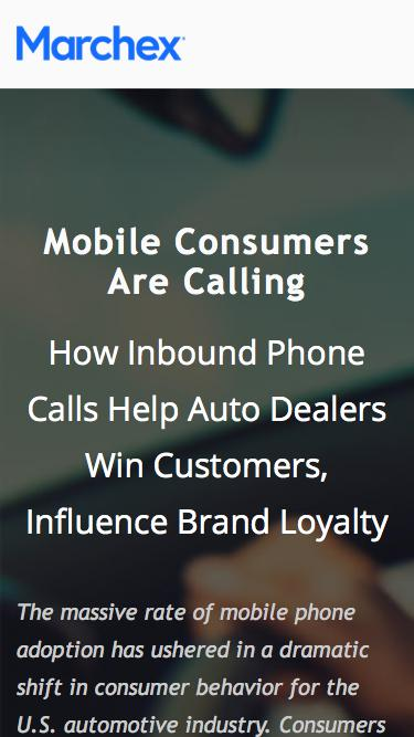 Marchex - Mobile Consumers Are Calling