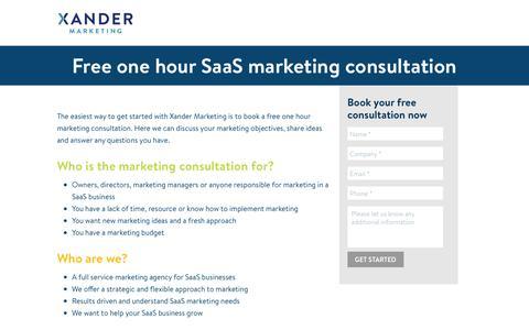 Free SaaS Marketing Consultation