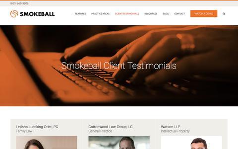 Smokeball Client Testimonials - Smokeball Customers