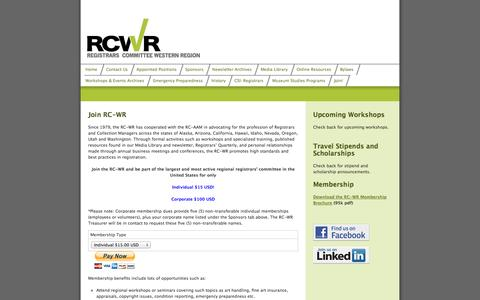 Screenshot of Signup Page rcwr.org - Uh oh. . was not found - captured Oct. 7, 2014