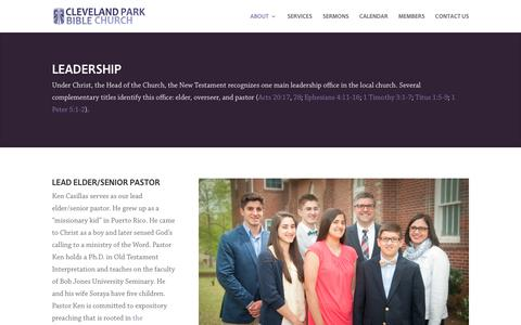 Screenshot of Team Page clevelandparkbible.org - Leadership | Cleveland Park Bible Church - captured Aug. 3, 2017