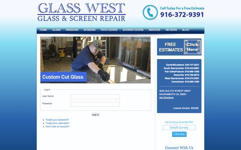 Screenshot of Login Page glasswest.com - Login - captured Oct. 2, 2014