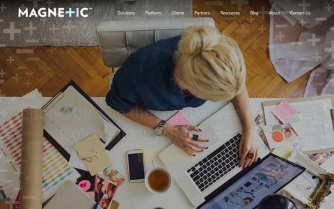 Screenshot of Home Page magnetic.com - Magnetic Platform | Marketing Solutions | Home - captured Dec. 2, 2015