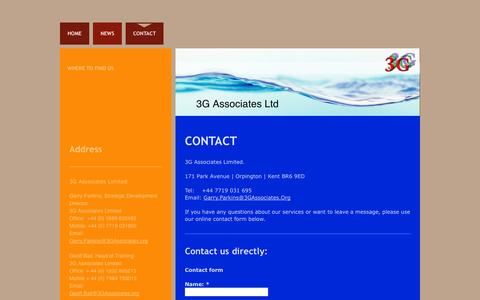 Screenshot of Contact Page 3gassociates.org - 3G Associates - Contact us - captured Oct. 27, 2014