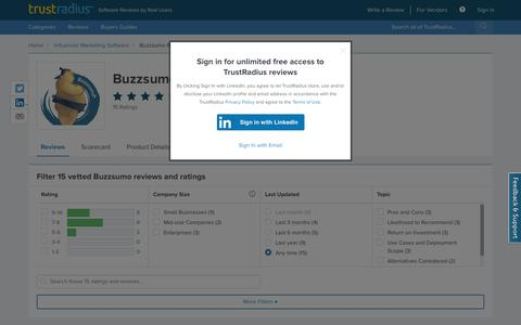 Buzzsumo Reviews & Ratings | TrustRadius