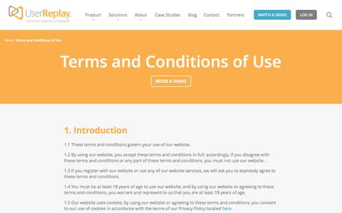 Terms and Conditions of Use | User Replay