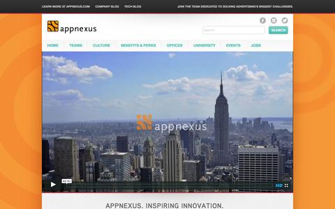 Screenshot of Jobs Page appnexus.com - AppNexus Careers - captured Sept. 12, 2014