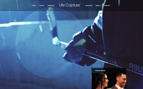 Screenshot of Home Page lifecapture.ca - Life Capture – Photo | Video | Production - captured Aug. 5, 2017