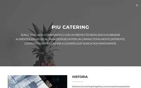 Screenshot of Home Page piucatering.com - Piu Catering - captured July 18, 2018
