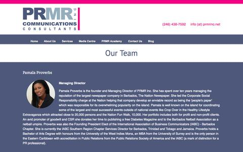 Screenshot of Team Page prmrinc.net - Our Team | PRMR Inc - captured July 17, 2015