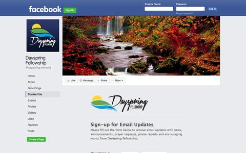 Screenshot of Contact Page facebook.com - Dayspring Fellowship - Contact Us | Facebook - captured Nov. 24, 2016