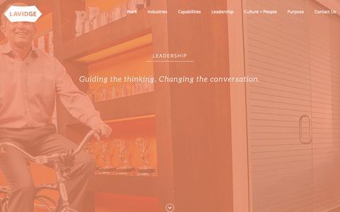 Screenshot of Team Page lavidge.com - LAVIDGE Executive Management and Leadership - captured Oct. 18, 2018