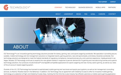 Screenshot of About Page cgtglobal.com - About CG Technology - Innovative Gaming Solutions - captured Nov. 1, 2014