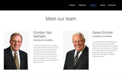 Screenshot of Team Page framerica.com - Framerica |   Our Team - captured Aug. 4, 2016